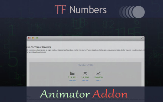 TF Numbers – Animator Addon