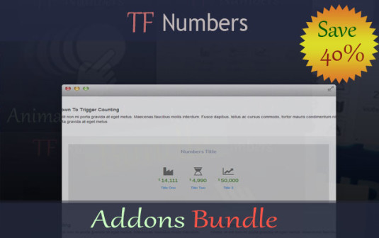 TF Numbers – Addons Bundle